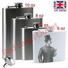 6 8 10oz Stainless Steel Pocket Hip Flask Holder Drink Whisky Liquor Vodka