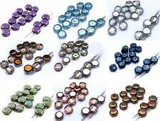 6 (mm) due Foro Ceco piastrella Mattone di vetro a nido d'ape Hexigon Perline 21 Colori - (20PCS)