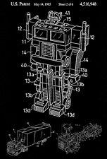 1985 - Transformers Optimus Prime - H. Obara - Patent Art Poster