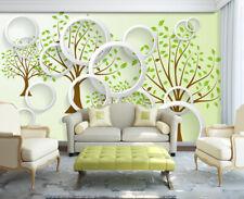 3D Pousse Arbre 23 Papier Peint en Autocollant Murale Plafond Chambre Art
