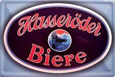 Hasseröder Biere Blechschild Schild Blech Metall Metal Tin Sign 20 x 30 cm