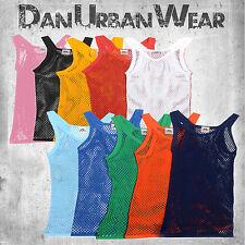 Children's Unisex String Vest T-shirt Muscle Vest Fishnet Mesh Summer 2-12 Yrs