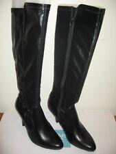 NEW Dana Buchman Women's Karna  High Boots Black High Heel Fashion Sz: 6 and 9.5