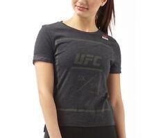 Reebok Womens Official UFC Fan Tri-Blend Black T-Shirt NEW (Size's XS,S,M,L,XL)