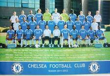 "CHELSEA FC ""2011/2012 TEAM SHOT ON FIELD"" FOOTBALL POSTER- Lampard,Torres,Essien"