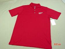 NWT Men's Detroit Red Wings Short Sleeve Polo Shirt Hockey Michigan Sport Fan