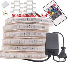 AC 220V LED Strip Light 240V RGB SMD 5050  IP67 Waterproof LED Flexible Tape Kit