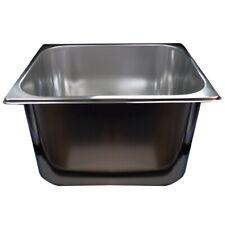 Spülbecken Gastronomie CNS-Stahl versch. größen z.b. 33x30x20cm oder 50x30x30cm