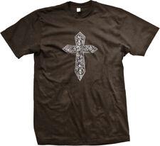 Celtic Cross Distressed Christianity Church Religion Paisley Pray Men's T-Shirt
