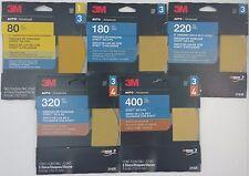 """3M 6"""" PSA SANDING DISCS Auto Boat Shop Self Adhesive Stick-It 4-5/Pk SELECT Grit"""