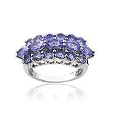 925 Silver 2.8ct TGW Tanzanite Band Ring