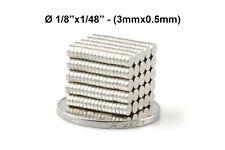"3mmx0.5mm Neodymium Disc Magnets - 3x0.5 mm - 3*0.5 - 1/8""x1/48"" Fridge Magnets"