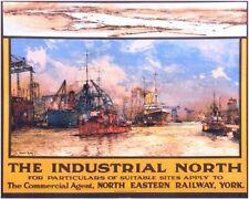 Vintage NE Railway Industrial North Railway Poster A4/A3/A2/A1 Print