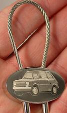 Fiat 126 Schlüsselanhänger Bambino Keyring Fotogravur Gravur