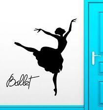Ballet Dancer Wall Stickers Dance Theatre Passion Vinyl Decal (ig2483)