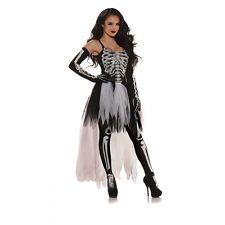 Underwraps Sexy Skeleton Adult Womens Cosplay Goth Rock Halloween Costume 29617