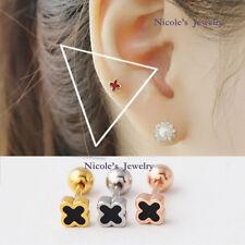 18G Surgical Steel Four Leaf Clover Earrings Tragus Ear Piercing