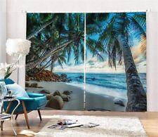 Beautiful Sight Beach 3D Blockout Photo Printing Curtains Draps Fabric Window