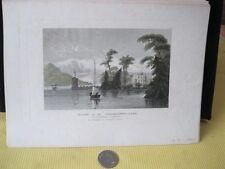 Vintage Print,STORES ON WINDERMERE,Meyers Universum,1855,Steel Engraving
