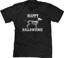 Happy Halloweenie Dachshund Halloween Pun Parody Funny Joke Humor Mens Tee