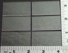 "6 Thin Clear 1"" x 2"" Bullseye Glass Rectangles 90 Coe"