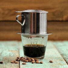 Stainless Steel Coffee Maker Pot Heat Resistant Glass Teapot Jug Drip Filters