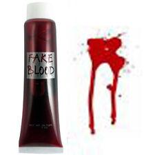 HALLOWEEN FAKE BLOOD 28g (1fl oz ) VAMPIRE HORROR FANCY DRESS THEME MAKE UP KIT