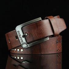 Classic Men's Leather Belt Casual Pin Buckle Waist Belt Waistband Belts Strap TS