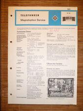 Service Manual for Radio Tele M 291, Original