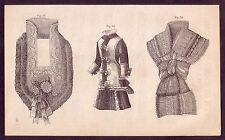 1800's Old Vintage Ladies Victorian Fashion Costume Decor Art PRINT [#12]