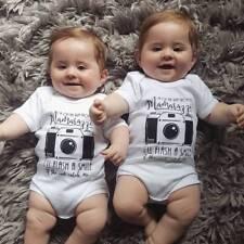 Newborn Baby Girls boys Romper Jumpsuits bodysuit top Clothes camera INS