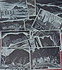 MERYL WATTS Art Postcards Black & White Series Lot 2