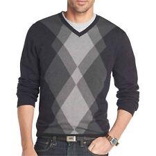 Van Heusen Argyle Sweater Black Multi New Msrp $70.00 Size XL