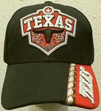 NEW TX TEXAS PRIDE STATE LONGHORNS SKULL LONG COW BULLS HORNS CAP HAT BLACK CAMO