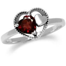 CUORE Granato Gemstone Sterling Silver Ring
