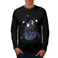 Per bambini Spazio Moda Uomo manica lunga T-shirt Nuove | wellcoda