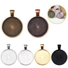 10pcs 25mm Necklace Pendant Setting Cabochon Cameo Base Tray Bezel Blank Fit DIY