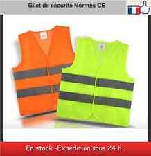 Gilet de sécurité réfléchissant haute visibilité moto auto EPI jaune orange