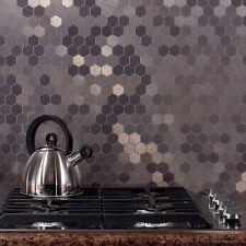 Aspect Peel and Stick Backsplash Honeycomb Matted Metal Tile