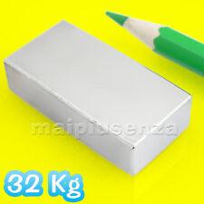 MAGNETE potente 40x20x10 mm - Calamita al neodimio - Forza di attrazione 32 Kg