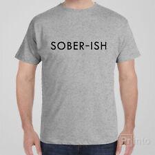 Funny cool T-shirt SOBER-ISH novelty alcohol gift idea - vodka drinking tee