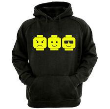 Block Heads Hoodie, Men's Funny Novelty Hoodie, Adult Hoodie