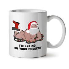 Santa Gift Present NEW White Tea Coffee Mug 11 oz   Wellcoda
