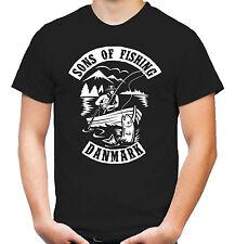 Sons of Fishing Danmark T-Shirt | Dänemark | Angler | Angeln | Anarchy | M1