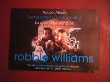 "ROBBIE WILLIAMS - PLAN MEDIA / PRESS KIT ""SWING WHEN YOU'RE WINNING"""