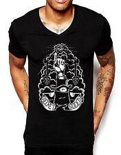 Sociedad secreta Cuello en V camiseta Para Hombres De Moda Estilo Superior Illuminati Músculo Equipada