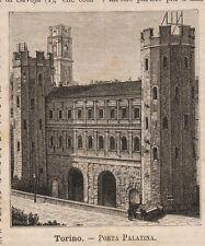 1891 Torino-Porta Palatina xilografia