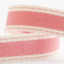 Full Roll 10m Sadle Stitch Cotton Twill Ribbon - Rose Pink - Crafts - Sewing