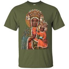 BLACK MADONNA of Częstochowa v2 Christian Mary T Shirt OLIVE  sizes S-5XL POLAND
