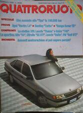 Quattroruote 400 1989 Opel Vectra, Bentley Turbo, Range Rover, Lancia Thema